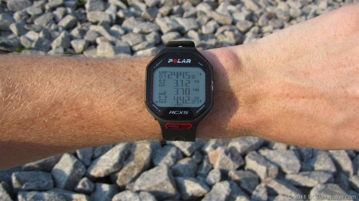 Polar RCX5 While Running Data Screens