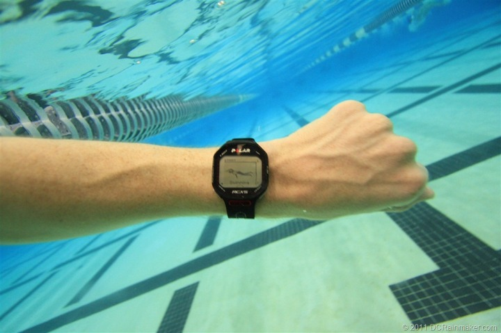 Polar RCX5 Swimming Start Mode