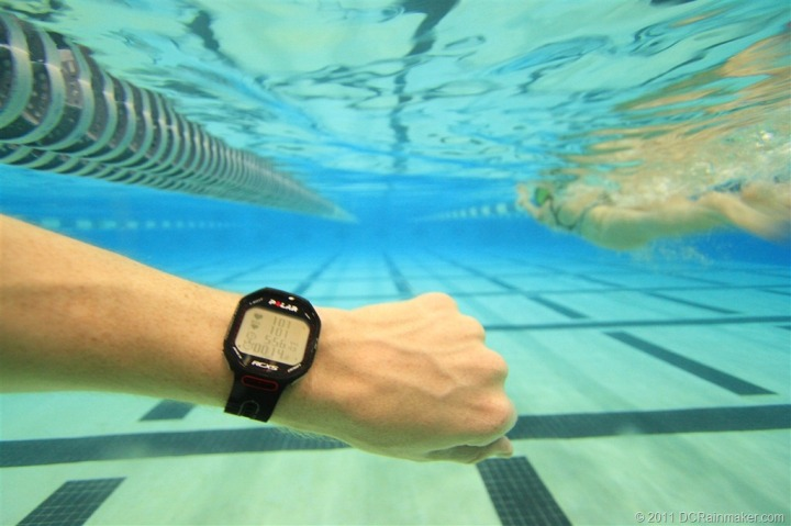 Polar RCX5 Swimming with HR