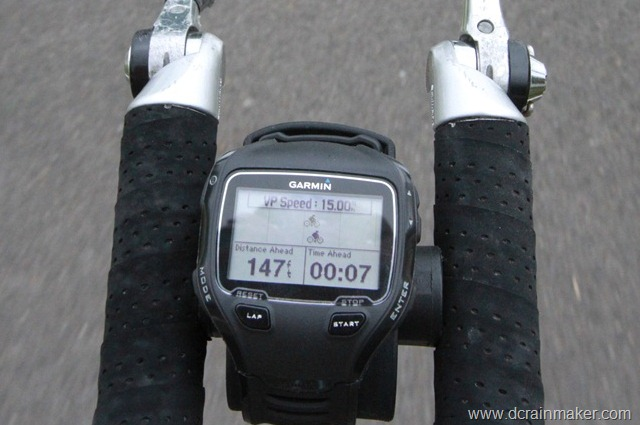 Garmin FR910XT Cycling Virtual Partner