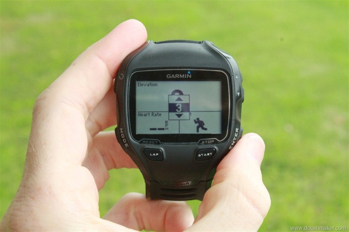 Garmin FR910XT Run Data Field Customization - Three fields