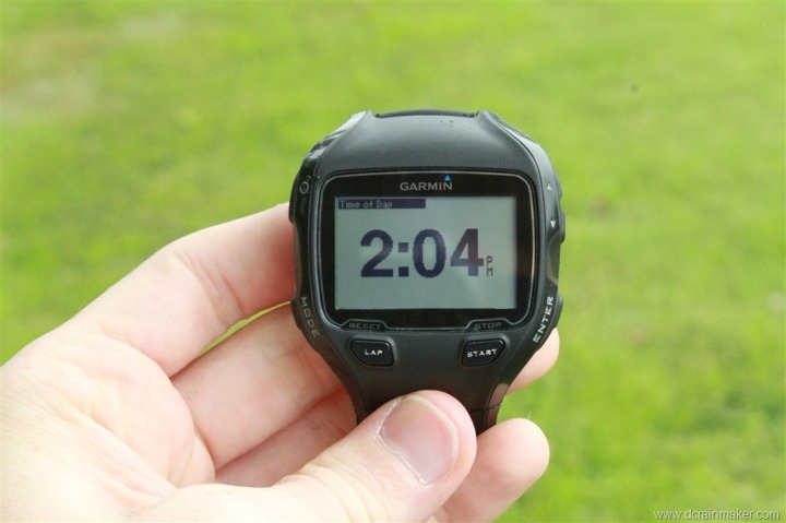Garmin FR910XT Run Data Field Customization - One field