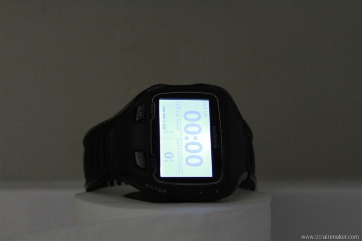 Garmin FR910XT Backlight in dark room