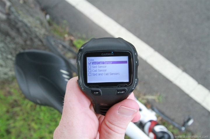 Garmin FR910XT Bike Speed Cadence Sensor Setup