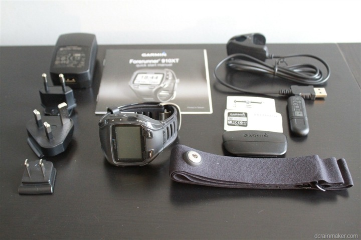 Garmin FR910XT Unboxed and Unwrapped
