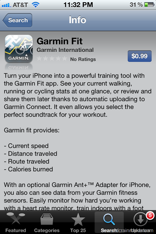 Garmin iPhone ANT+ Adapter and Garmin Fit app Review | DC