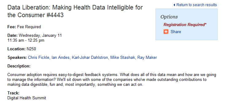 Moderating Health & Fitness Panel at CES 2012: Looking for