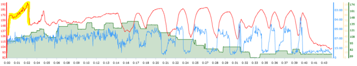 Training Peaks HR Graph - Garmin Device