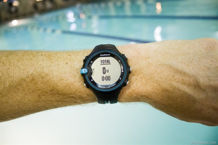 Garmin Swim watch on wrist