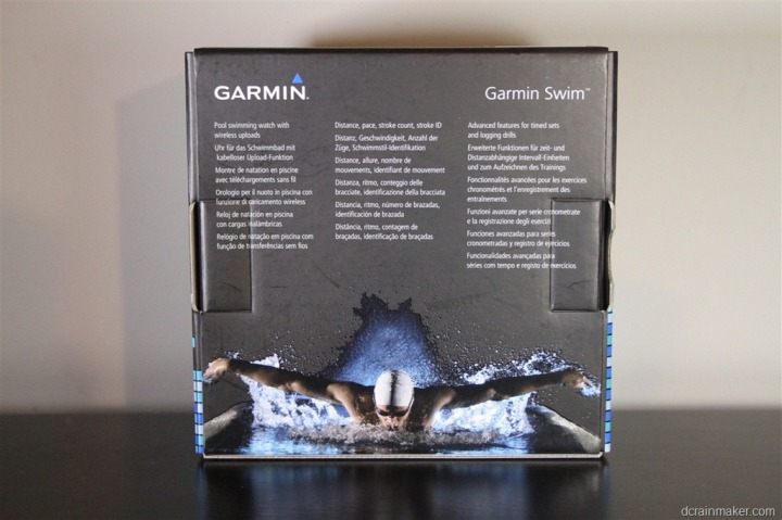 Garmin Swim Watch Back