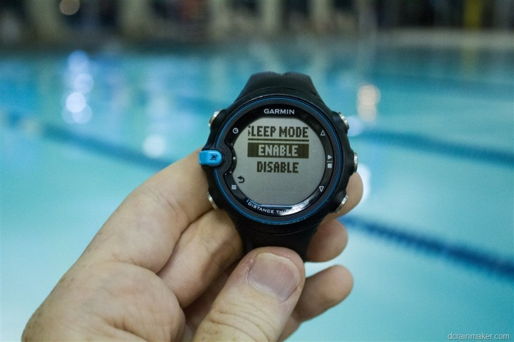 how to put garmin forerunner 235 in sleep mode