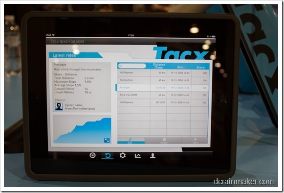 An Early Quick Look At The Tacx Ipad Trainer App Dc