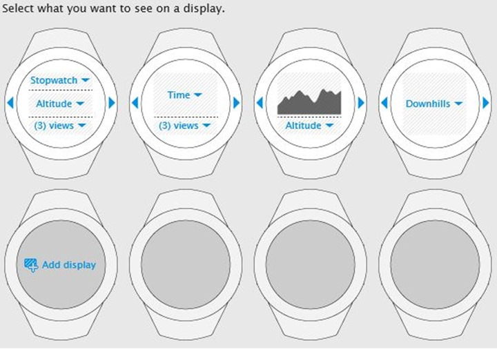 Suunto Ambit Downhills App customizing Alpine Skiing Display