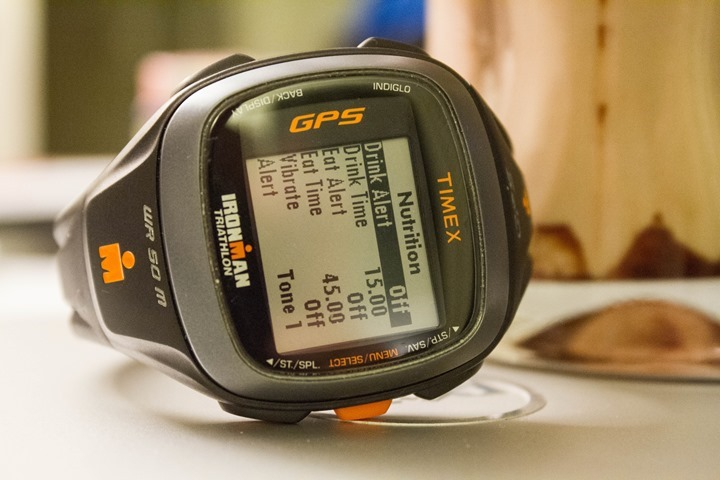 Timex Run Trainer 2.0 Nutrition Alerts