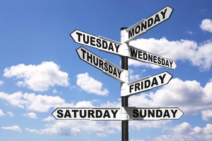 Week days signpost
