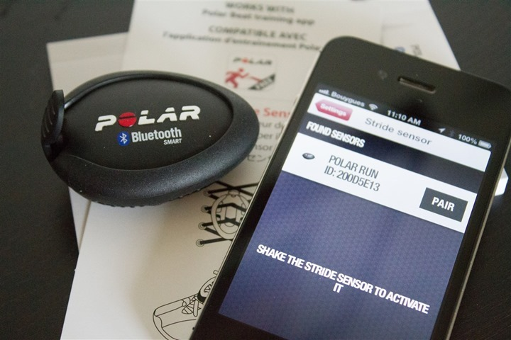 Polar Beat App Footpod Pairing Step 1