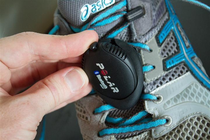 Polar Bluetooth Smart Footpod Installing