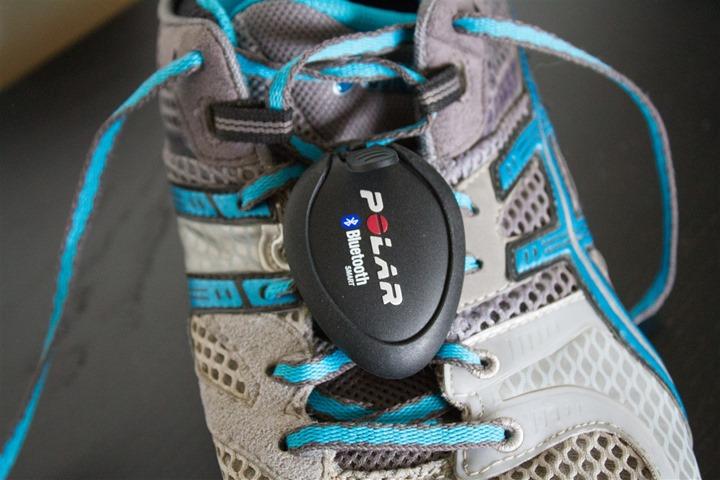 Polar Bluetooth Smart Footpod Installed