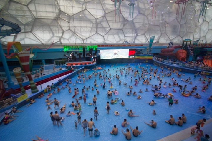 Swimming in the beijing olympic water cube dc rainmaker for Beijing swimming pool olympics