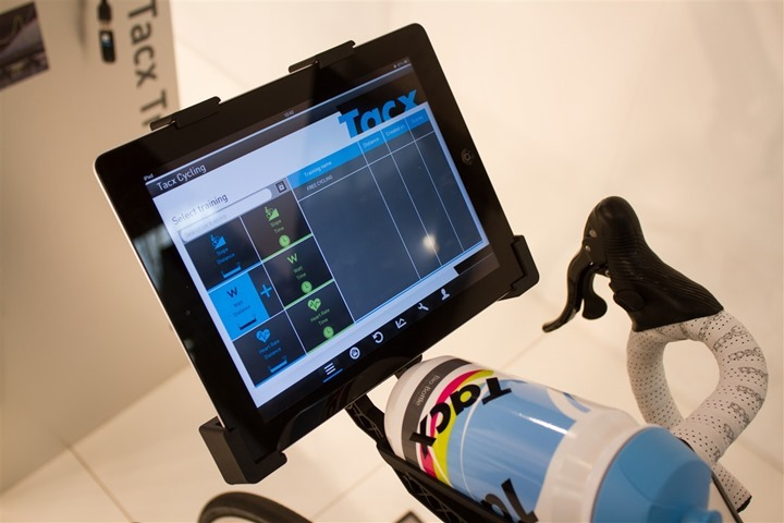 hands on with the newly announced tacx ipad app  ant