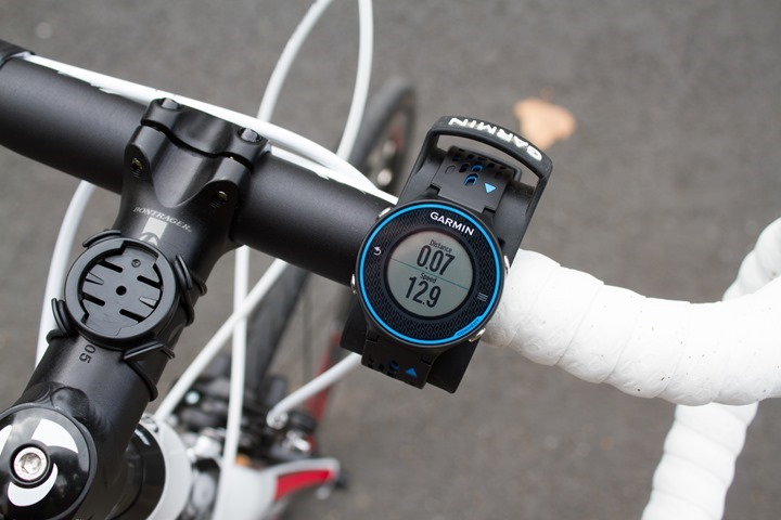 Garmin FR620 while cycling