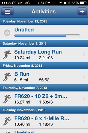 Garmin FR620 Mobile App Uploads