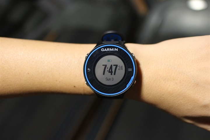 Garmin FR620 on small womens wrist