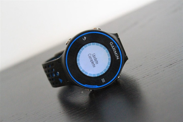 Garmin FR620 Firmware Updating Installed