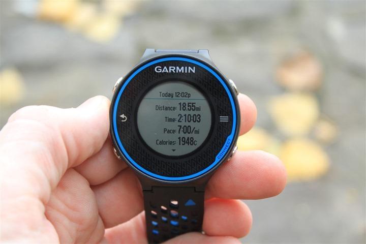 Garmin FR620 Run Summary