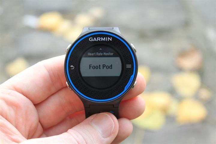 Garmin Footpod enablement with FR620