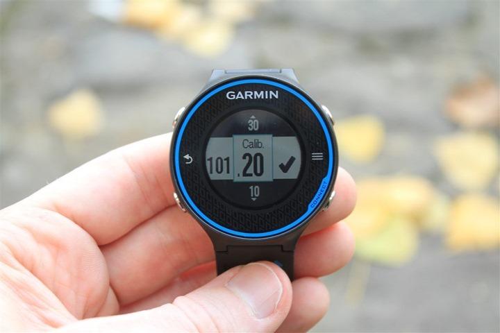 Garmin Footpod Calibration with FR620