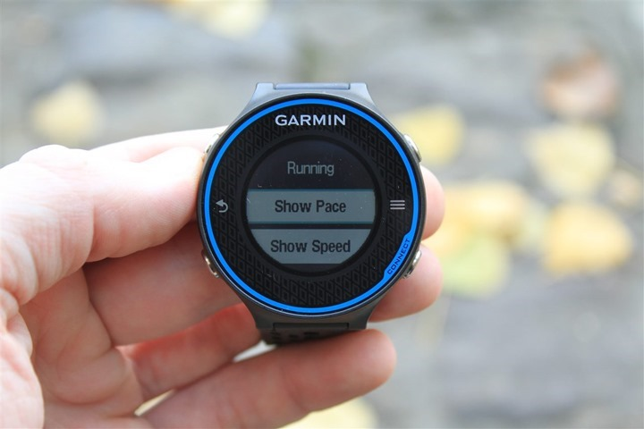 Garmin FR620 while cycling change mode