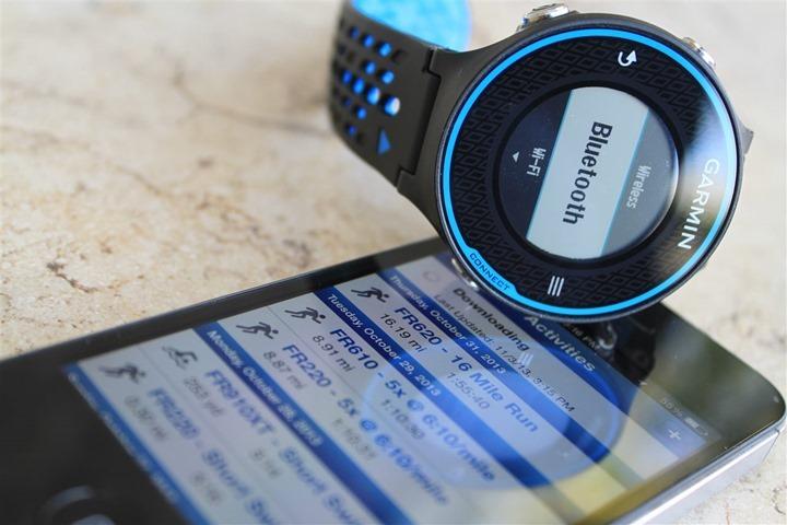 Garmin FR620 Bluetooth Enablement