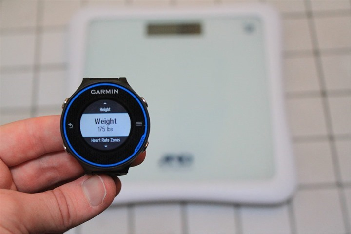 Garmin FR620 ANT+ Weight Scales