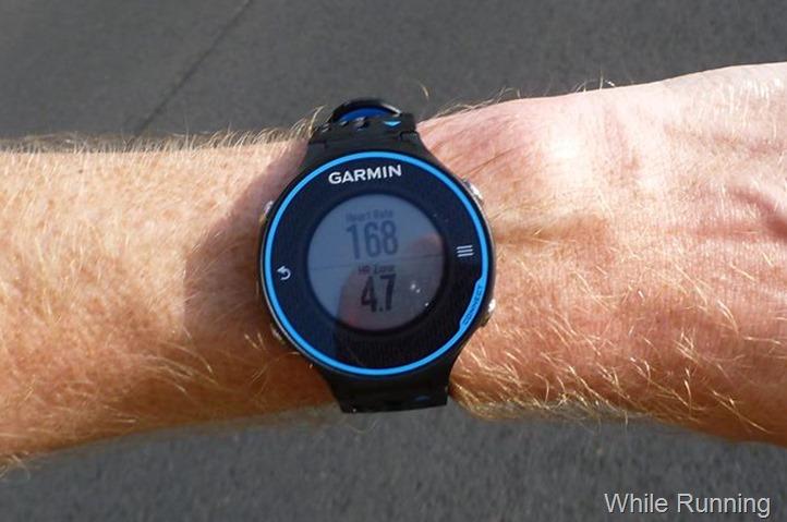 Garmin FR620 While Running