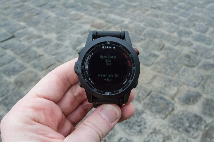 Garmin Fenix2 Multisport Mode Config Transitions