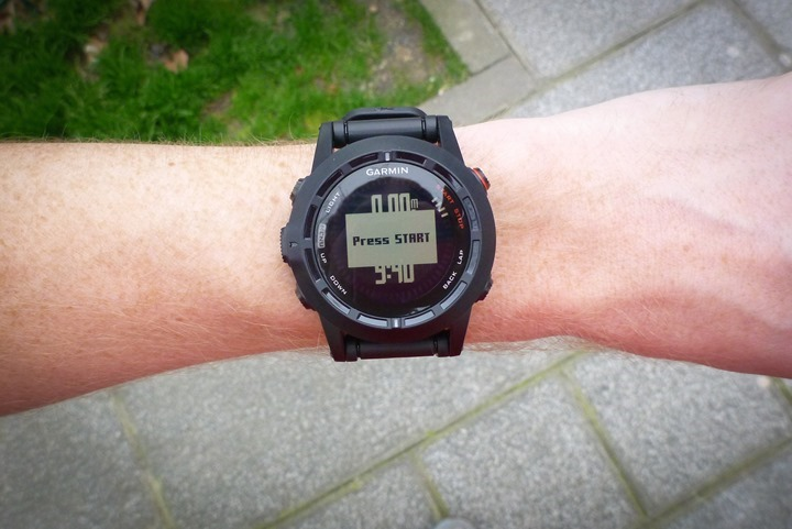 Garmin Fenix2 Running Start