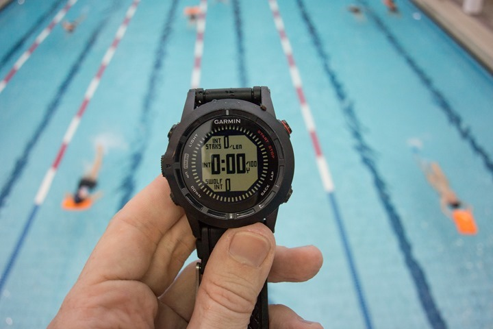 Garmin Fenix2 Swimming Pool Display Field