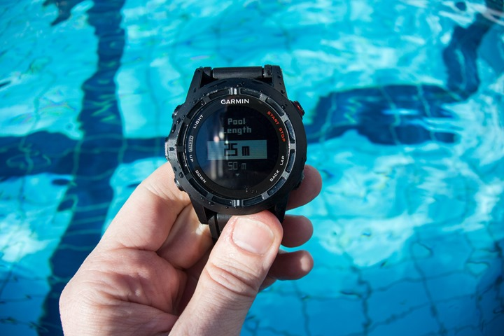 Garmin Fenix2 Swimming Pool Size