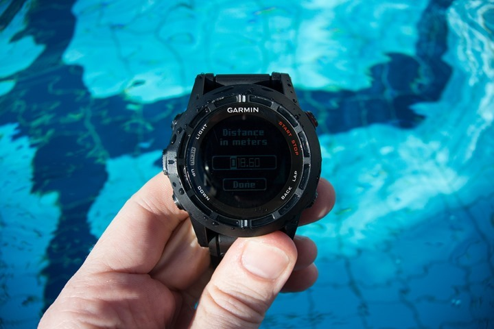 Garmin Fenix2 Swimming Pool Size Custom