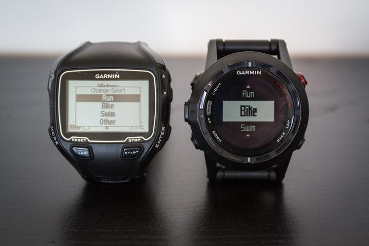 Garmin Fenix2 and FR910XT Comparison