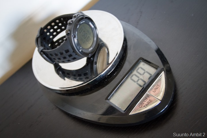 Suunto Ambit2 on scale