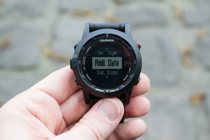 Garmin Fenix2 Data Option