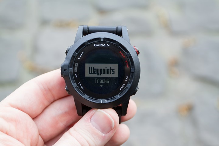 Garmin Fenix2 Navigation Waypoint Entry