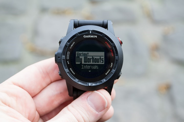 Garmin Fenix2 Workout Mode