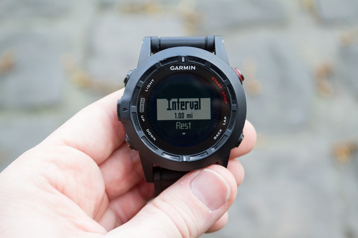 Garmin Fenix2 Interval Config