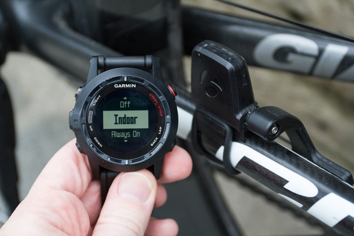 Garmin Fenix2 Speed/Cadence Sensors Settings