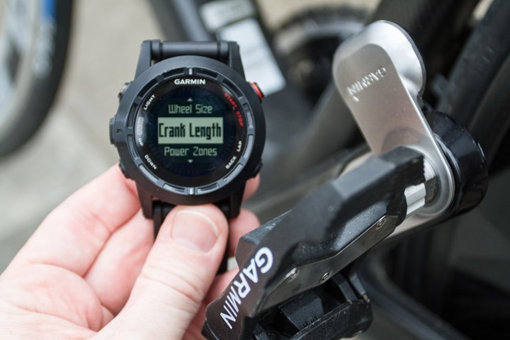 Garmin Fenix2 Power Meter Configuration