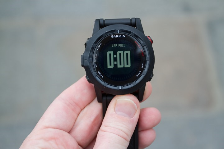 Garmin Fenix2 Data Pages - One Field