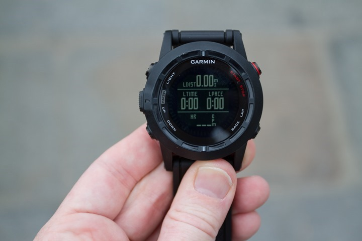 Garmin Fenix2 Data Pages - Four Fields